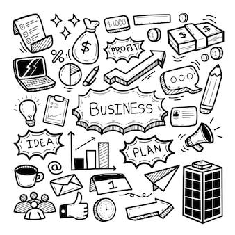 Plan biznesowy doodle ilustracja