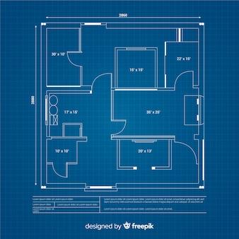 Plan koncepcji szkicu domu