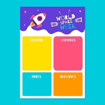 Plan lekcji kreatywnego tygodnia kosmosu