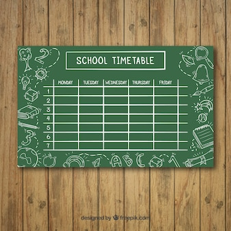 Plan lekcji szkoły szablon stylu tablicy