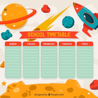 Plan lekcji w szkole