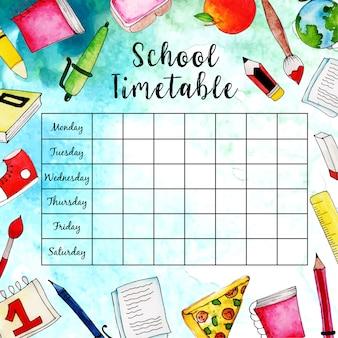 Plan lekcji z powrotem do szkoły
