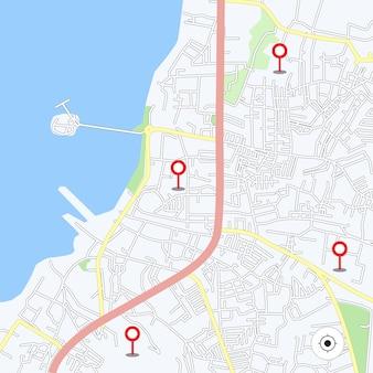 Plan miasta do wszelkiego rodzaju cyfrowej grafiki informacyjnej i publikacji drukowanej