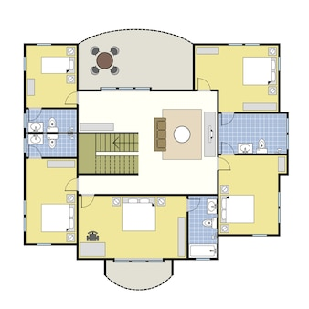 Plan piętra architektura domu.