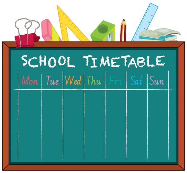 Plan zajęć szkolnych z postaciami