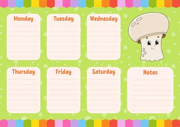Plan zajęć w szkole rozkład zajęć dla uczniów.
