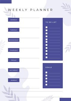 Planer dziennika punktorów z liśćmi