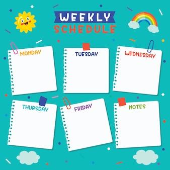 Planer dzienny i tygodniowy dla dzieci