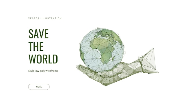 Planeta ziemia w ludzkiej dłoni