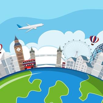 Planety london landmarks concept