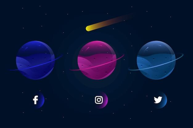 Planety mediów społecznościowych