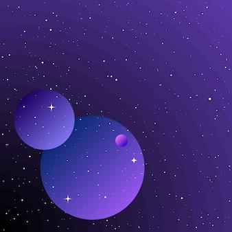 Planety w przestrzeni kosmicznej abstrakcyjne wyimaginowane planety do zaproszenia na konferencję naukową do karty projektowej
