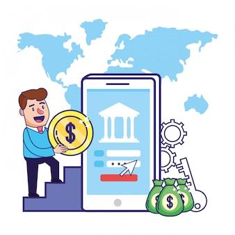 Planowanie finansowe bankowość biznesmen