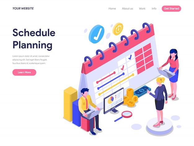 Planowanie koncepcji izometrycznej planowanie strony docelowej, interfejsu użytkownika, witryny internetowej