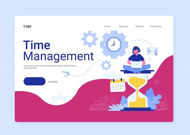 Planowanie, organizacja i kontrola zarządzania czasem w celu zapewnienia skutecznego i dochodowego biznesu. koncepcja zarządzania czasem pracy.