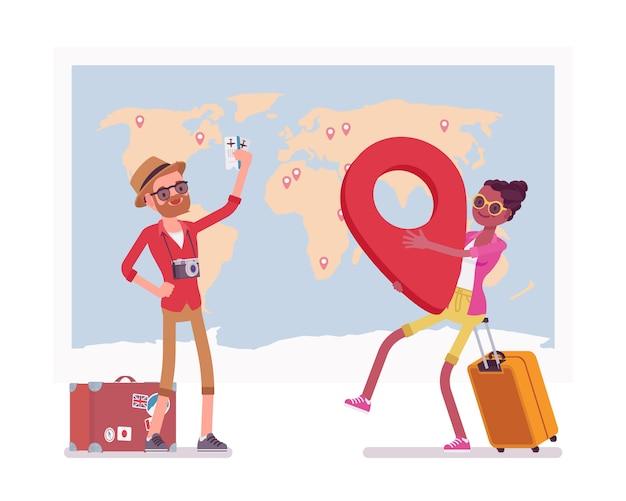 Planowanie podróży na mapie