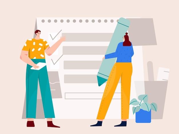 Planowanie pomysłu na nową ilustrację projektu