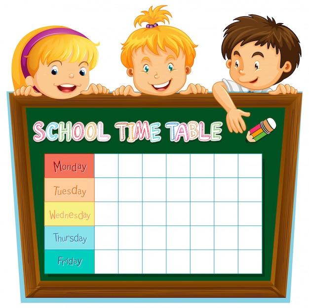 Planowanie szkoły z postaciami