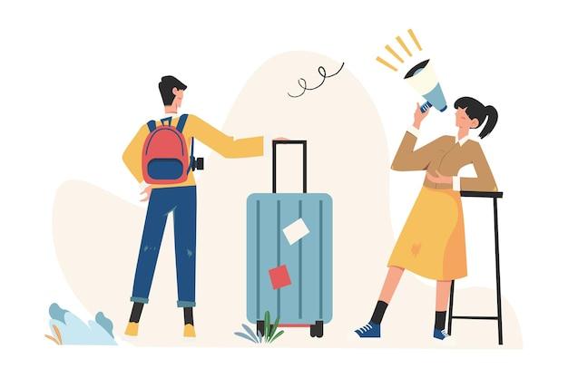 Planowanie wakacji, podróż służbowa, podróż, walizka i zestaw turystyczny, bagaż podręczny, podróż, wycieczka