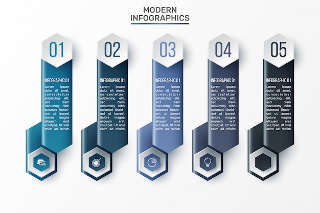 Plansza 3d szablon do prezentacji. wizualizacja danych biznesowych. elementy abstrakcyjne. kreatywna koncepcja infografiki.
