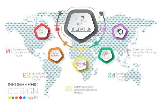 Plansza biznes etykiety na tle mapy świata.