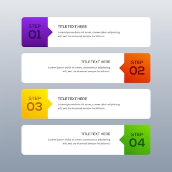 Plansza biznes koncepcyjny szablon z tekstem kolorowy efekt biały banery