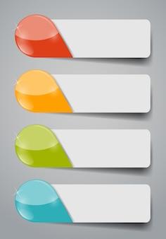 Plansza biznes szablon z czterema elementami