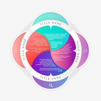 Plansza gradientu kołowy diagram