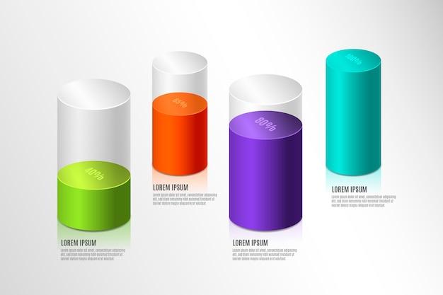 Plansza kolorowe paski 3d
