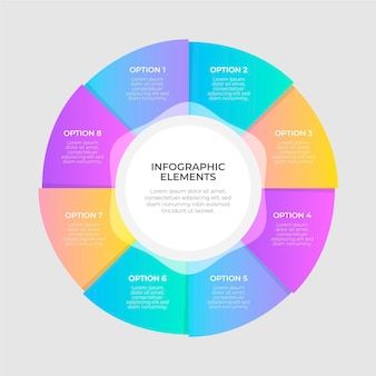 Plansza kolorowy diagram kołowy