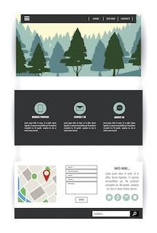 Plansza leśny infografika
