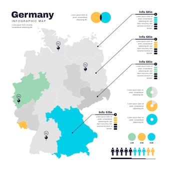 Plansza mapa niemiec płaska konstrukcja