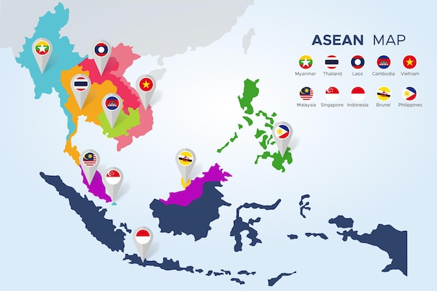 Plansza mapy asean