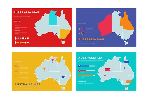 Plansza mapy australii rysowane ręcznie