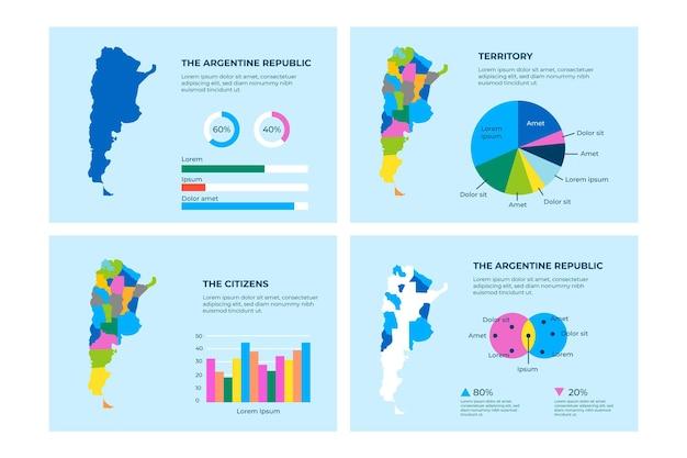 Plansza płaska mapa argentyny