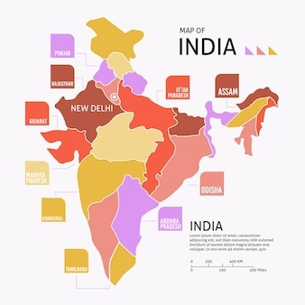Plansza płaska mapa indii