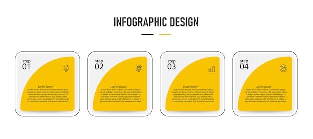 Plansza prezentacji szablonu. kroki projektowania infografiki