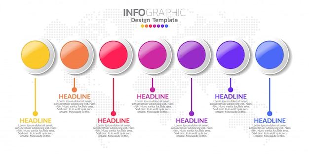 Plansza szablon z 7 opcjami kolorów.