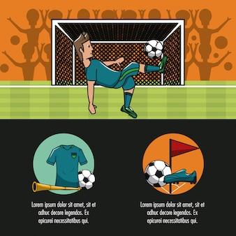 Plansza turniej piłki nożnej z elementami