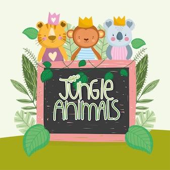 Plansza zwierząt dżungli