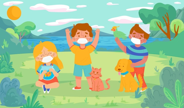 Płascy ludzie z ilustracjami zwierząt domowych