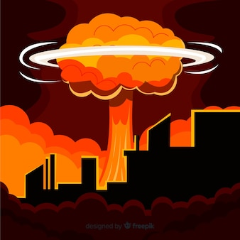Płaska bomba atomowa w mieście