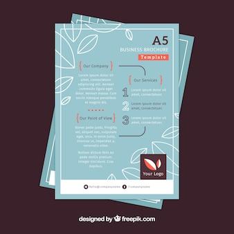Płaska broszura biznesowa w rozmiarze a5