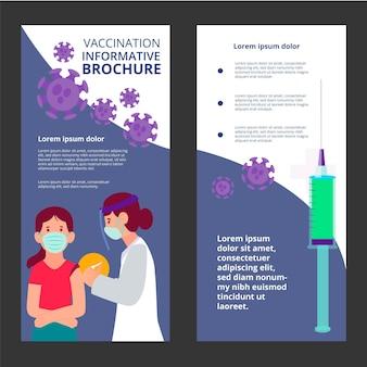 Płaska broszura informacyjna dotycząca szczepień przeciwko koronawirusowi