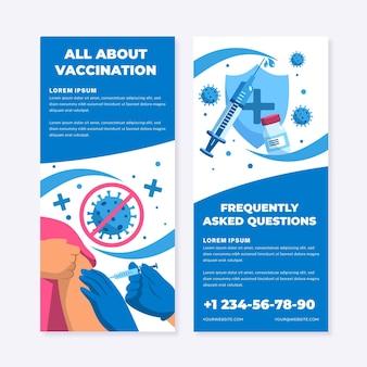 Płaska broszura informacyjna na temat szczepień przeciwko koronawirusowi