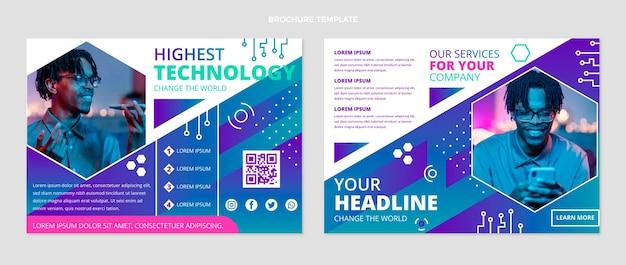 Płaska broszura o minimalnej technologii