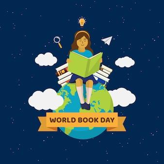 Płaska celebracja światowy dzień książki
