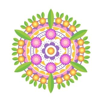 Płaska dekoracja kwiatowa onam