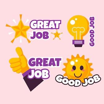 Płaska dobra robota i świetne naklejki do pracy