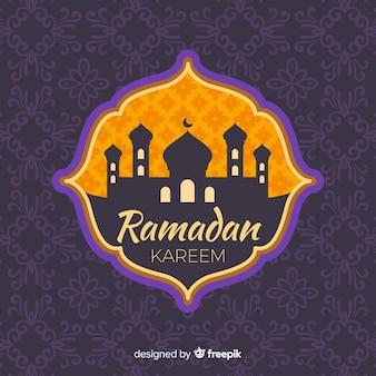 Płaska etykieta ramadanu